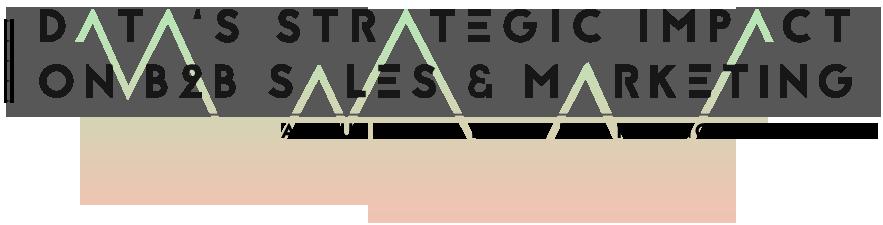 Data's Strategic Impact on B2B Sales and Marketing